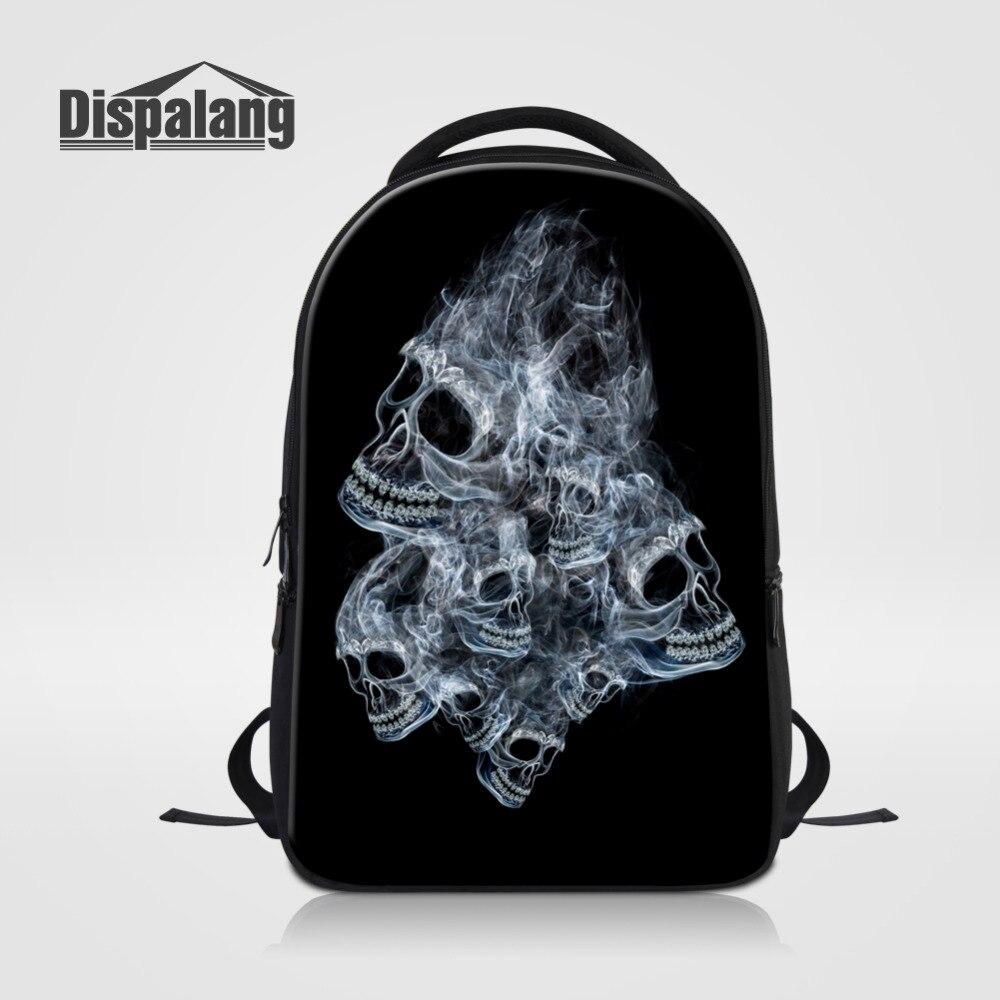 Dispalang Large Capacity Laptop Backpack Skull Printed School Bags For Teenagers Men Travel Bags Women Notebook Backpack Mochila dispalang designer colorful backpack for women laptop backpacks girls school bags for teenagers summer travel bag mochilas mujer