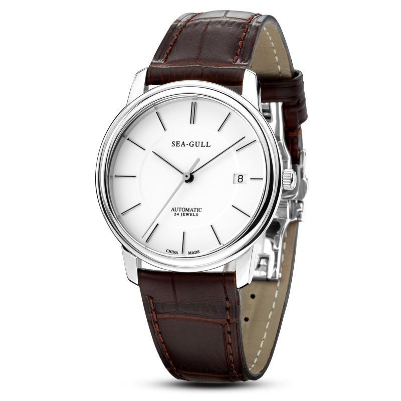 Leisure Automatic Mechanical Genuine Leather Waterproof Watch with Rome Digital Business for Various Occasions M201sLeisure Automatic Mechanical Genuine Leather Waterproof Watch with Rome Digital Business for Various Occasions M201s