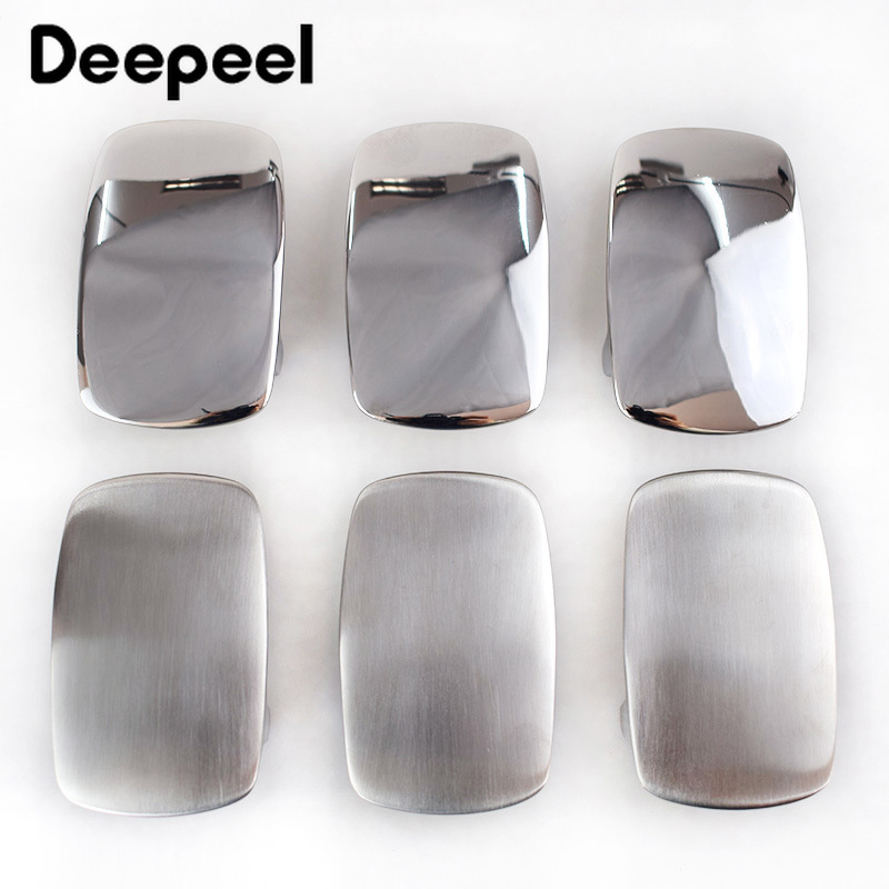 Deepeel 39mm Stainless Steel Belt Buckle Metal Brushed Smooth for Men's Waistband Head DIY Jeans Accessories Leather Craft AP389