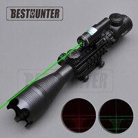 광학 Riflescope C4-16X50 EG + 레드/그린 레이