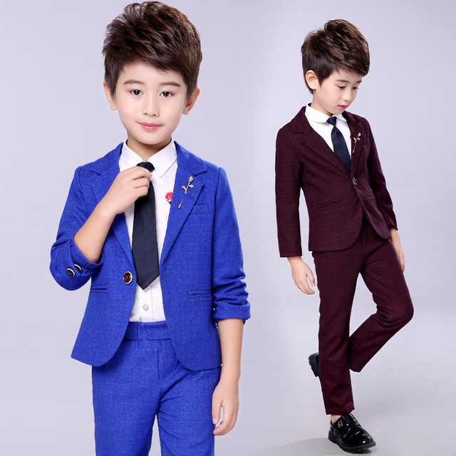 1611666c1e0a 2018 new fashion children's suit boys British style boys dress performance  costumes boys small suit two-piece / sets