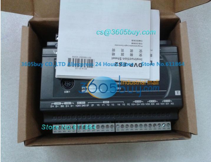 New original Programmable DVP60ES200R Series 60-point 32DI 24DO Relay Delta PLC Logic Controller