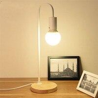 Loft Vintage Schreibtisch Lampe Mit 2 Farben Traditionelle Landschaft Holz Tisch Lampen Nordic Metall Studie Beleuchtung E27 40W