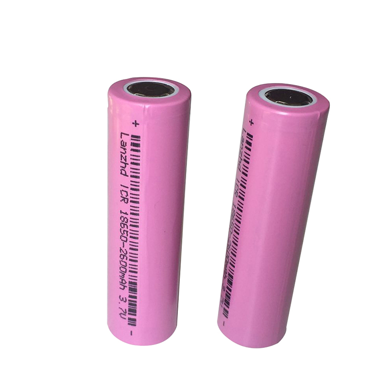 2PCS Battery Real Full 2600MAH Capacity rechargeable 18650 Battery 3.7v rechargable Li-ion Battery 18650 Battery Free Shipping