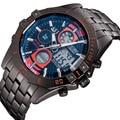 ASJ New Casual Outdoor Sports Clock Men Luxury Brand Water Resist Digital Watches Vintage Black Steel Band Military Watch Gift