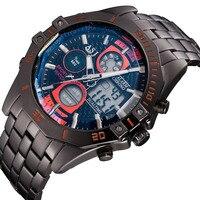 ASJ New Casual Outdoor Sports Clock Men Luxury Brand Water Resist Digital Watches Vintage Black Steel