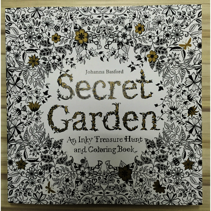 Secret Garden The English Version Coloring Book Adults To Reduce Pressure Coat With Painting Send Color Pencil In Books From Office School