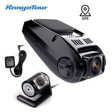 Автомобильный видеорегистратор B40D Daul объектив Novatek видеорегистратор передний 1080P задний 480P Поддержка gps регистратор для проверки скорости и отслеживания на ПК плеер