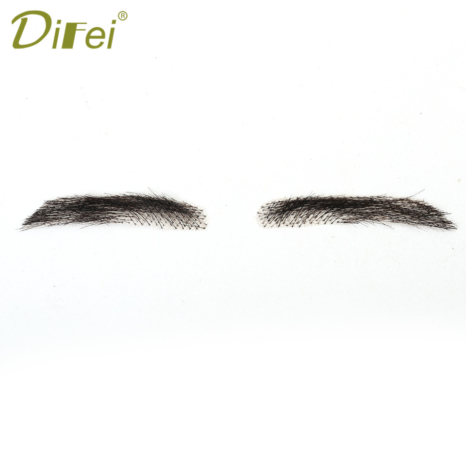 DIFEI Eyebrows Three-dimensional Shape Eyebrow Type Fashion Real Easy To Wear Wig Straight High Temperature Fiber