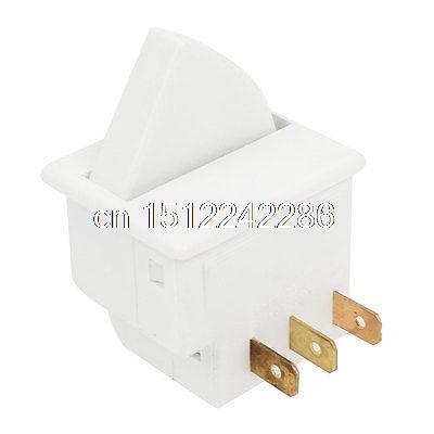 Rocker Lever Control 3 Terminals SPDT Fridge Door Light Switch White ...