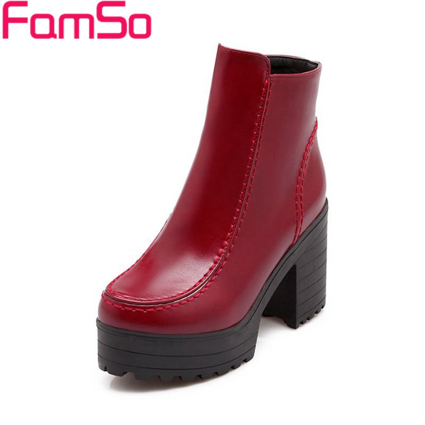 Free shipping 2016 New Sexy font b Women b font Autumn Platforms Pumps Short Riding Boots