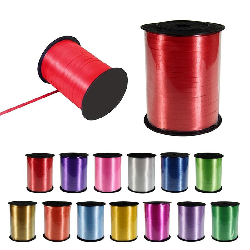 Hot sale High Quality 450 m 5mm 500yards balloon Ribbons for Wedding Party Birth