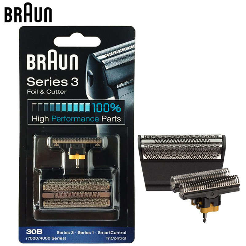 Braun 30B Foil& Cutter high performance parts for 7000/4000 Series Shavers Razor (Old 310 330 340 , 4775 4835 4875 5746 7630) 628 foil cutter for braun 3000 3731 3732 3733 3734 3770 3773 3305 3310 3315 3610 3612 3614 3615 5635 shaver razor mesh net