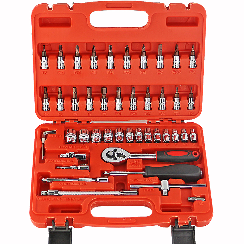 good quality 46pcs 1 4 car repairing tools sets ratchet wrenches kit so. Black Bedroom Furniture Sets. Home Design Ideas