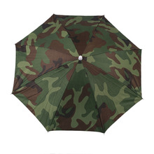 Portable Outdoor Sports 69cm Umbrella Hat Cap Folding Women Men Umbrella Fishing Hiking Golf Beach Headwear Handsfree Umbrella