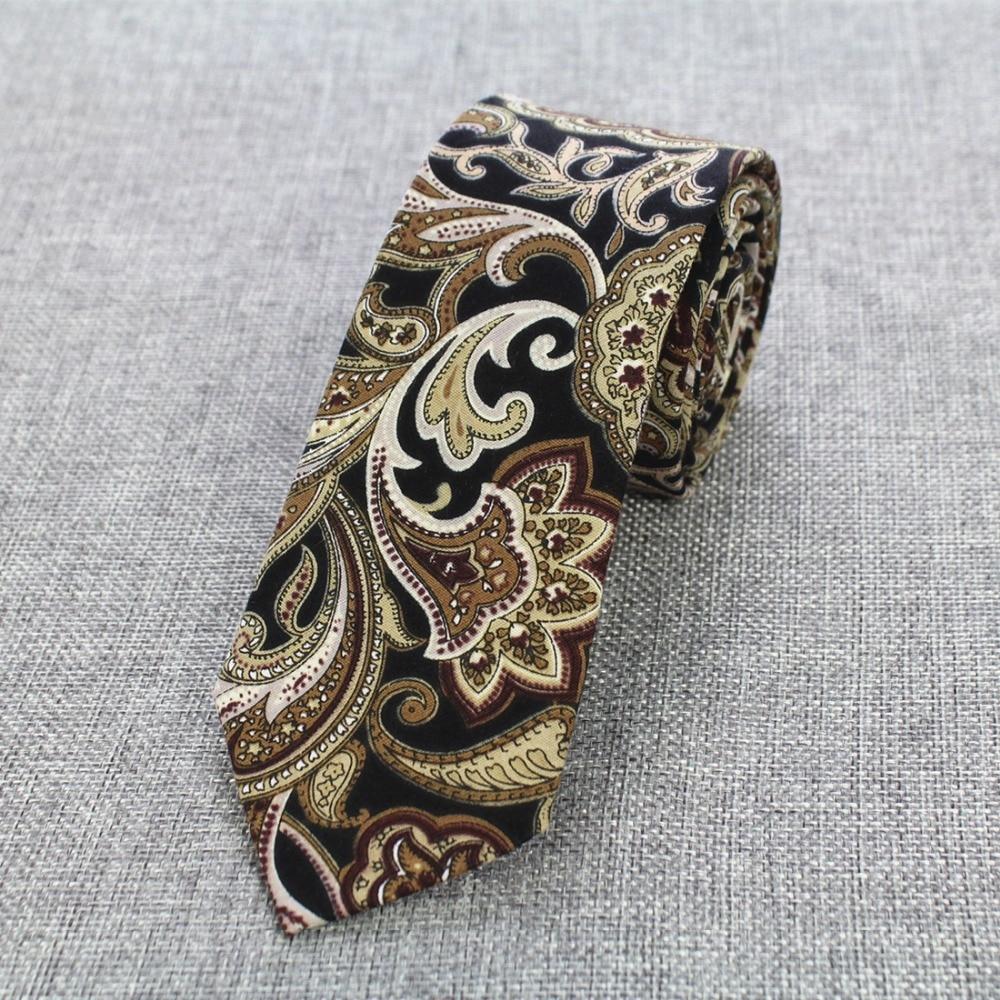 RBOCOTT 6cm pamučne kravate cvjetne kravate Muška moda kravata - Pribor za odjeću - Foto 3