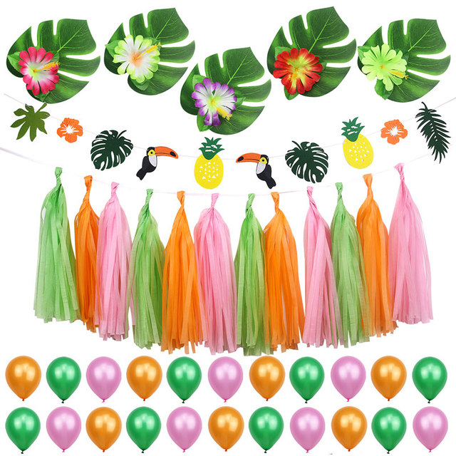 Summer Tropical Party Decorations Kit For Kids Birthday Baby Shower