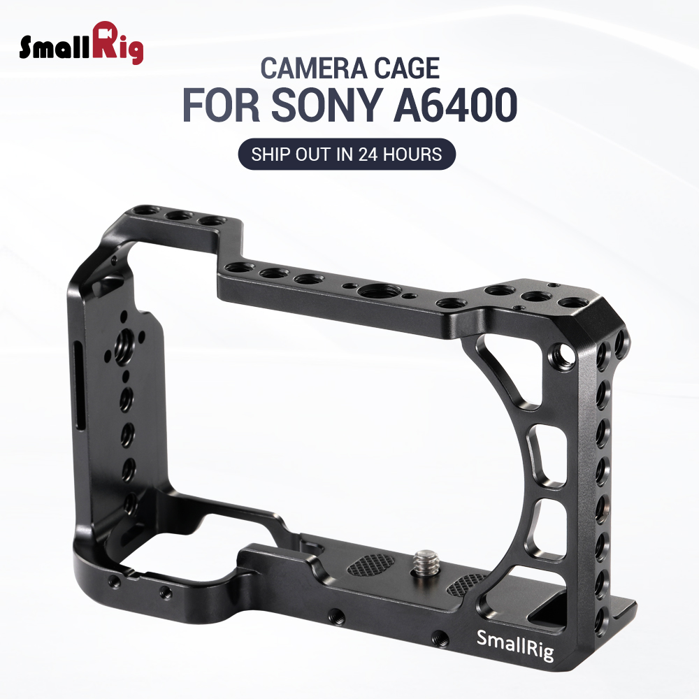 SmallRig A6400 Vlog Camera Cage for Sony A6400 feature with 1 4 3 8 Thread Holes