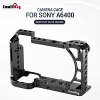 SmallRig A6400 Vlog Camera Cage for Sony A6100 / A6400 feature w/ 1/4 3/8 Thread Holes for Magic Arm Microphone DIY Options 2310