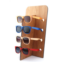 Bamboo Solid Color High End Glasses Display Stand Fashion Retro Glasses Display Stand Spectacle Case Sweatshirts