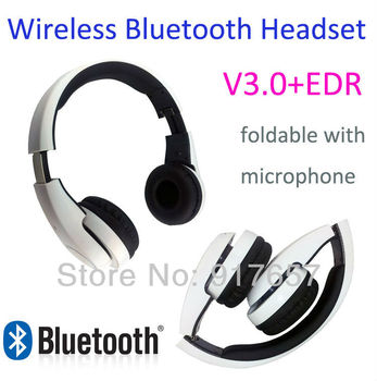 Wireless Bluetooth3.0 stereo Headset,earphones with microphone,DJ BASS stereo,Foldable 3.5mm Noise Cancelling headband headphone
