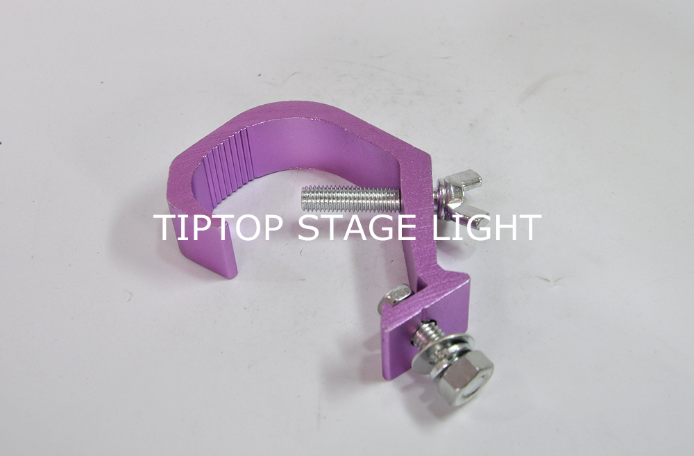 TIPTOP 06A4 200PCS Colorful Painting Led Stage Lighting Clamp 3cm Width 30kg Load Pink Color 40-60mm Pipe Hook DJ Party Lighting