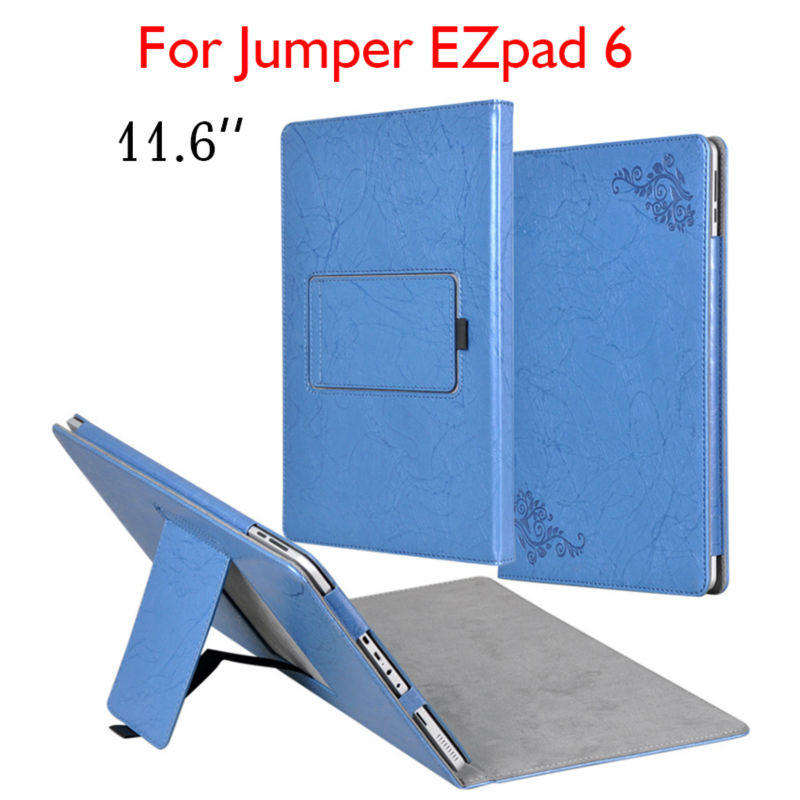 EZpad6 Tablet Case Funda 11.6 inch Flip Stand Cover Flower Print PU Leather Cases For Jumper EZpad 6 Slim Protective Shell Skin