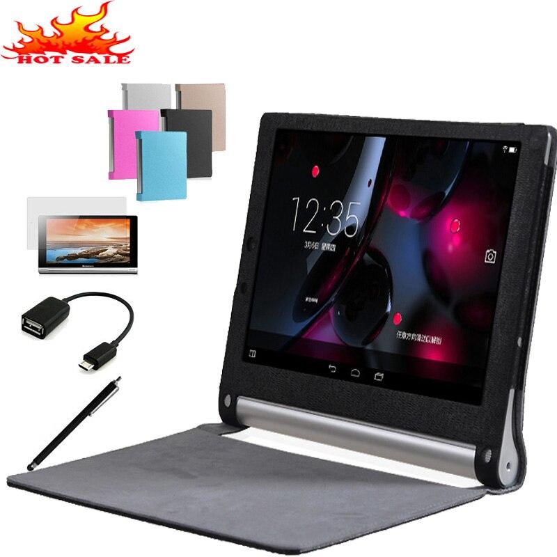 Luxury Leather Case Cover For Lenovo Yoga Tablet 2 10 1050F 1050 1051F 1050L 1051L 10.1 Tablet Smart Awakening Stand Flip Cover leather case flip cover for letv leeco le 2 le 2 pro black
