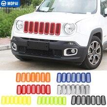 Mopai Abs Auto Buitenkant Voorkant Insert Grille Cover Decoratie Met Netto Stickers Voor Jeep Renegade 2015 2017 Auto Styling