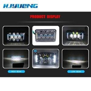 Image 5 - Fjyueng led ضوء العمل 4X6 بوصة مستطيلة 60 واط LED المصباح ل بيتربيلت كينوورث شحن بطانة 12 فولت 24 فولت 5 بوصة H4
