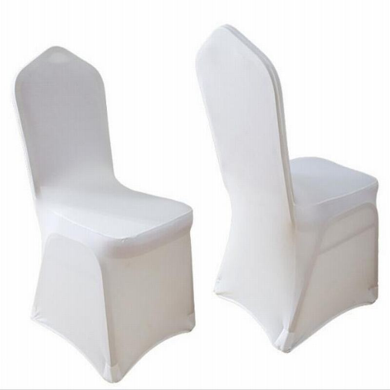 Thicken Elastic Universal White Spandex Stretch Elastic Wedding Dining Seat Chair Cover Party Banquet Hotel Polyester Covers