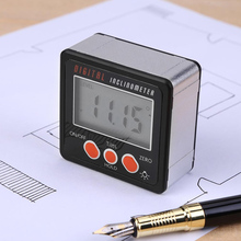 Electronic Protractor Digital Inclinometer 0-360 Digital Bevel Box Angle Gauge Meter Magnets Base Measuring Tool стоимость