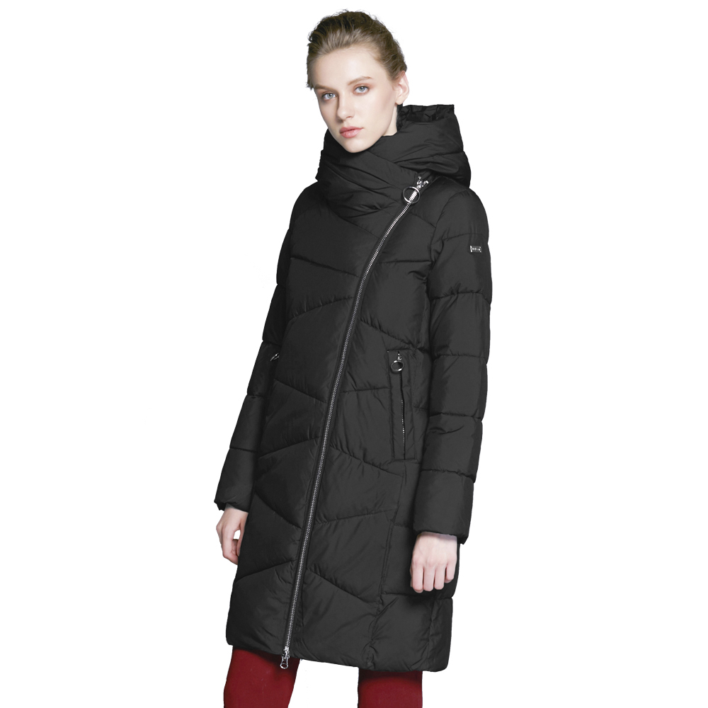 ICEbear 2017 Fashionable winter women's coat with windproof sleeves winter stylish jacket of medium length 17G6102D цены онлайн