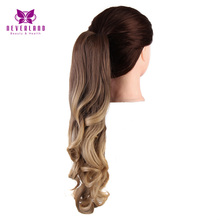 Neverland 50cm #8/#27 #25 Natural Claw On Ponytail Wavy Two Tone Ombre Hair Extensions Synthetic Women Pony Tail