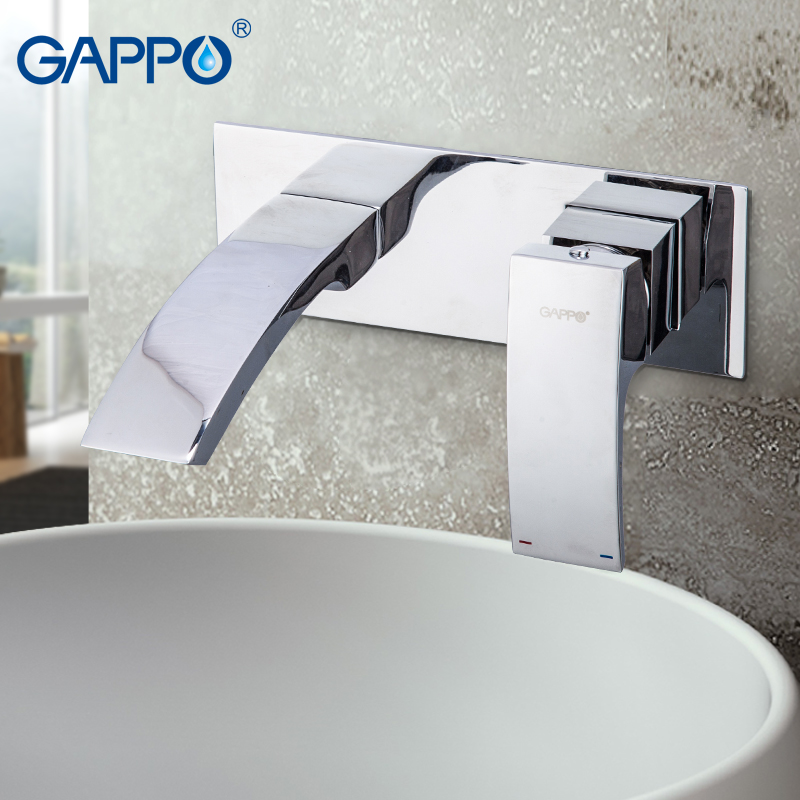 Permalink to GAPPO Basin Faucet wall mounted bathroom sink faucet waterfall basin taps Water mixer shower mixers tap Sanitary Ware Suite