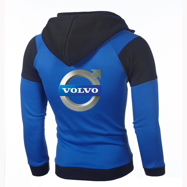 Fashion Men's New Hoodie VOLVO Personality Color Double Zip