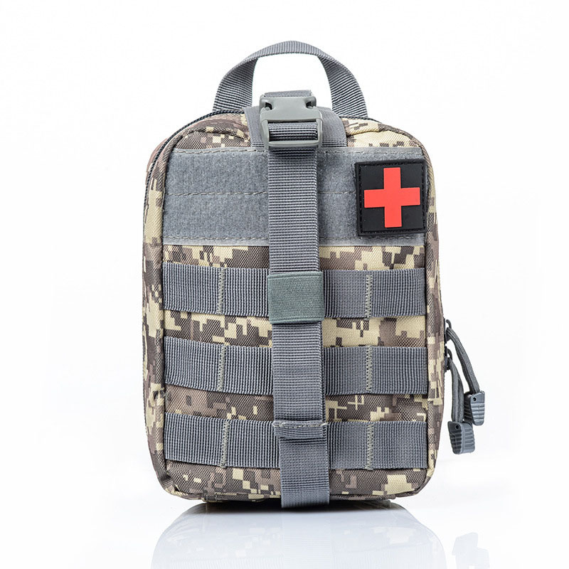 Navy Camouflage Outdoor Tactical Bag Travel First Aid Oxford Cloth Waist Pack Emergency Case Survival Kit Camping Climbing Bag