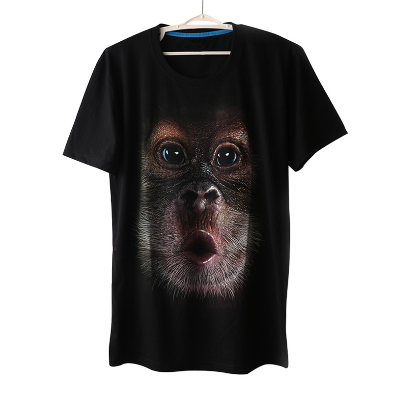 New Product Hot Sale Stylish And Cute Summer Men's Clothing O-Neck Short Sleeve T-shirt 3D Monkey Digital Printed T-shirt