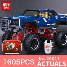 1605 Unids Lepin 20011 Technic serie clásica de la edición limitada de vehículos todo terreno Modelo Building blocks Ladrillos Compatible 41999