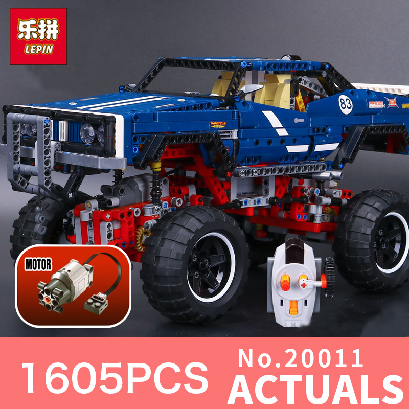 1605Pcs Lepin 20011 Technic series classic limited edition of off-road vehicles Model Building blocks Bricks Compatible 41999 in stock lepin 20011 1605pcs technic suv 4x4 crawler exclusive edition model building kit set blocks brick toy gift 41999