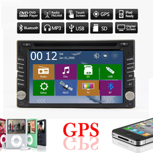 """6.2"""" HD TOUCH SCREEN For Universal IN DASH Stereo Car PC DOUBLE 2 Din Car DVD Player  Built-in BT GPS IPOD MP3player Hands-free"""