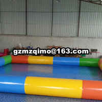 MZQM inflatable aqua park for sale, big inflatable water slide big swimming pool amusement park