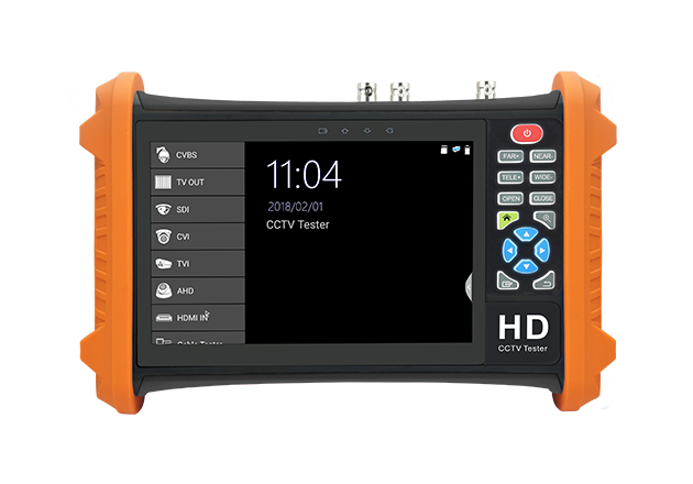 7 Inch 4 In 1 HD CCTV Tester Monitor AHD CVI CVBS TVI Camera Tester 8MP