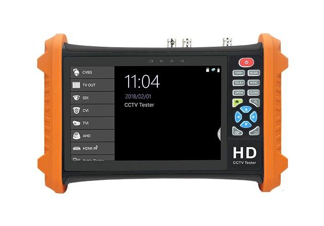 7 Inch 4 In 1 HD CCTV Tester Monitor AHD CVI CVBS TVI Camera Tester 8MP 5MP HDMI Input Output UTP PTZ 12V Ouput