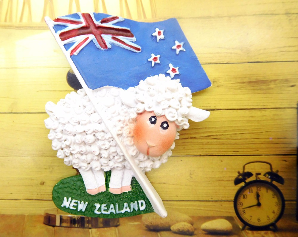 <font><b>New</b></font> <font><b>Zealand</b></font> sheep tourist <font><b>souvenir</b></font> refrigerator image