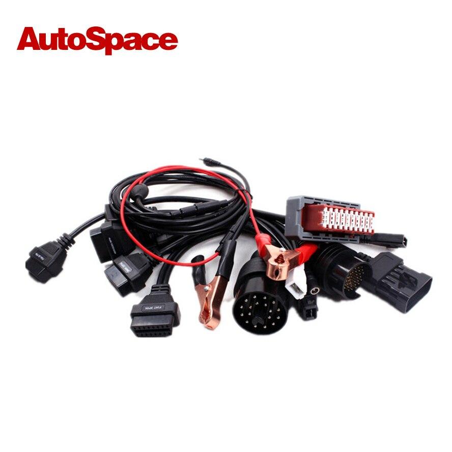 Full Set 8 pcs OBD EOBD OBD2 OBDII 2 II Car Diagnostic Scanner Reader Tester Tool Auto Connector Adapter Cable For delfi kw807 2 8 lcd obdii eobd car diagnostic auto scanner red black