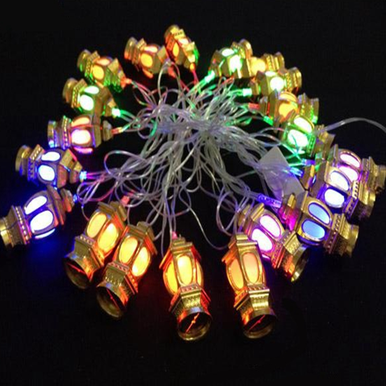 String Of Lantern Lights : AC110V/220V 4M/20 Flashing LED RGB Colourful Chinese Lantern String Lights for Christmas Holiday ...