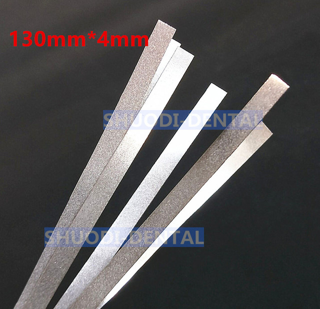 Dental Metal Polishing Stick Strip with Single Side of Alumina-Plated Sanding Surface 130mm*4mm