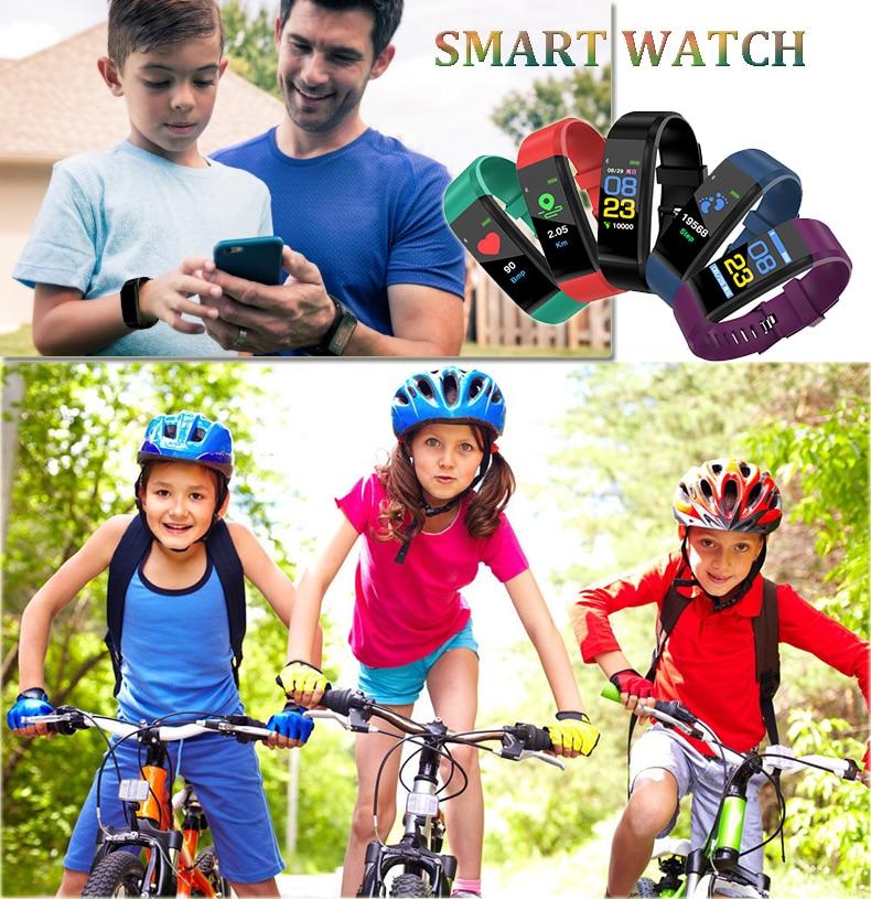 meninas meninos estudantes relógio de pulso eletrônico