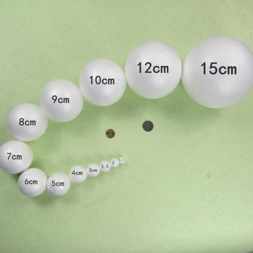 5 шт. 5-8 см белый процесс моделирования пенополистирол мяч DIY свадебный фестиваль Рождество украшения поставки Детские ремесла
